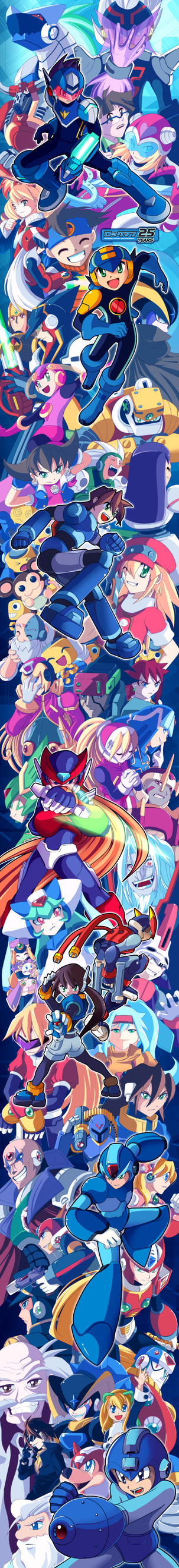 25 Years of MegaMan by suzuran