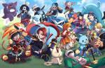 Pokemon X One Piece by suzuran