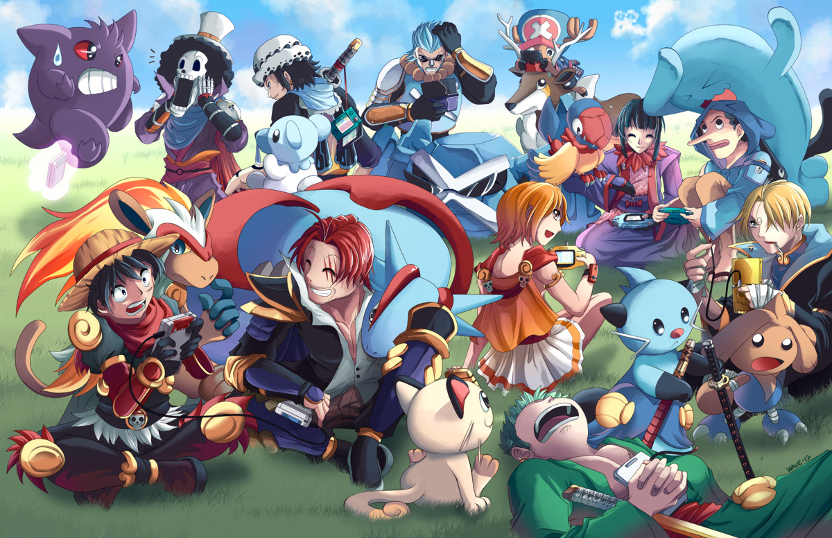 Pokemon X One Piece by suzuran