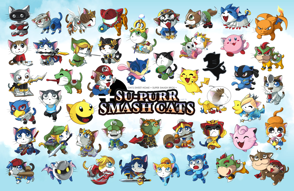 Supurr Smash Cats by suzuran