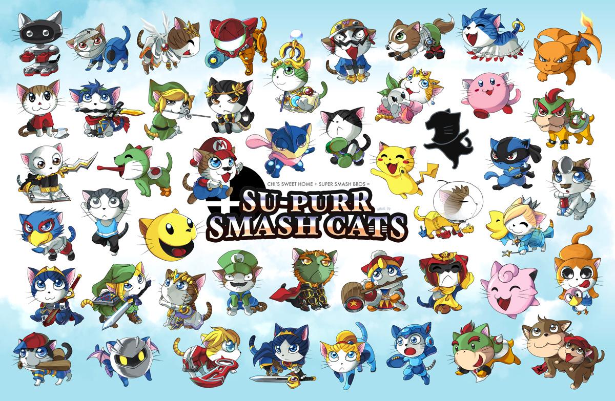Supurr Smash Cats by suzuran
