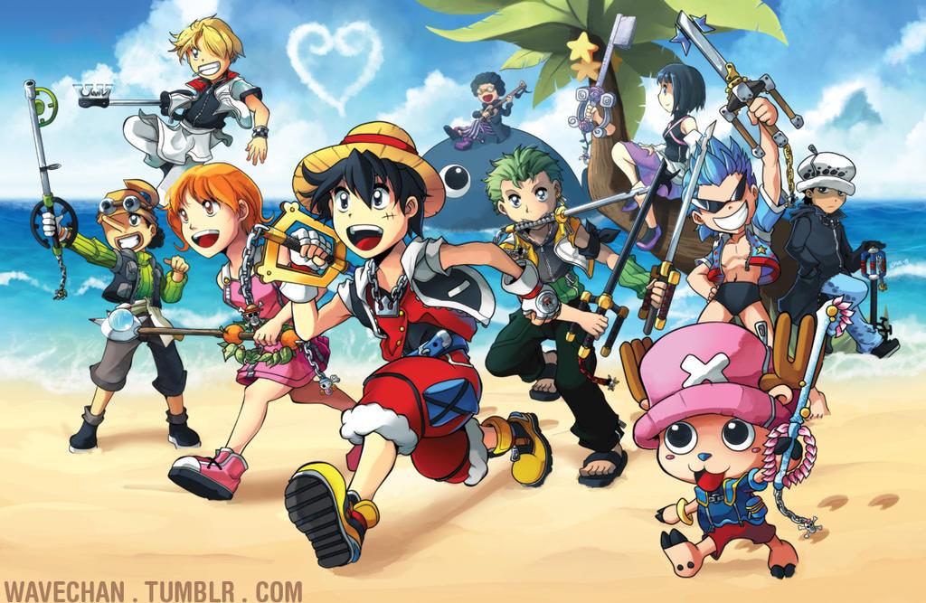 Kingdom Hearts X One Piece by suzuran on DeviantArt