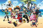 Kingdom Hearts X One Piece by suzuran