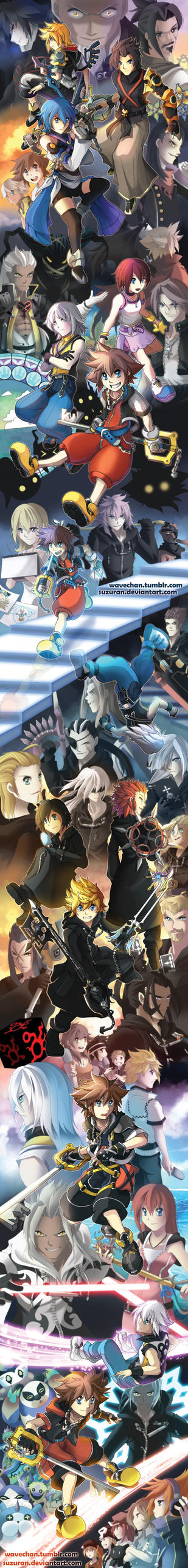 SUPER LONG Kingdom Hearts tribute by suzuran