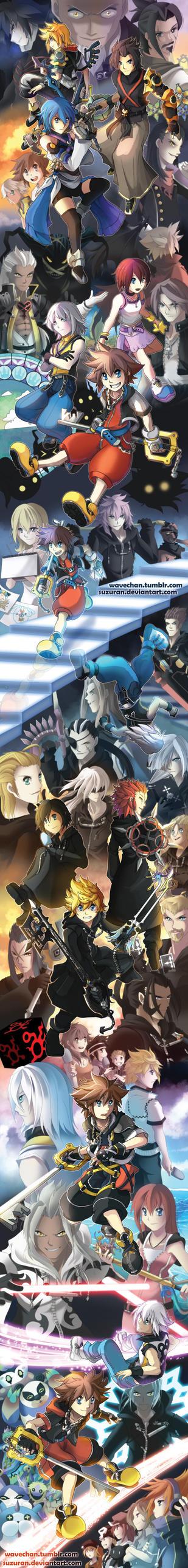 SUPER LONG Kingdom Hearts tribute by suzuran