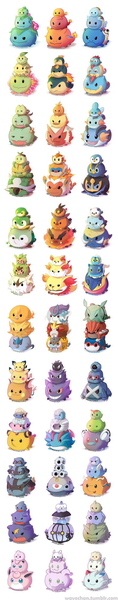 Pokemon TsumTsums! by suzuran