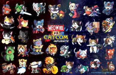 Meowvel vs Catcom Infurnite! by suzuran