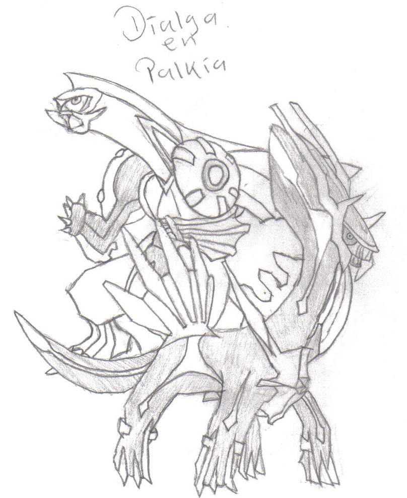 Dialga and palkia coloring pages