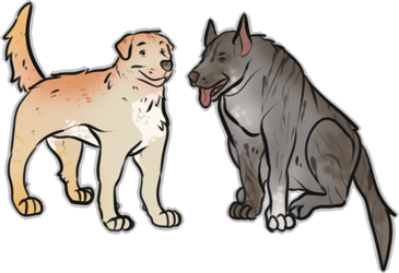 Dog Point Doodle Adopts by KittyWarFur