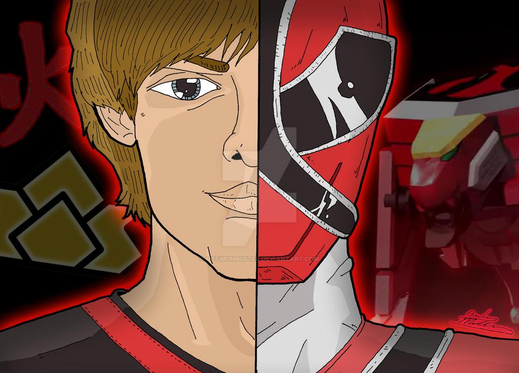 how to draw power rangers samurai red ranger