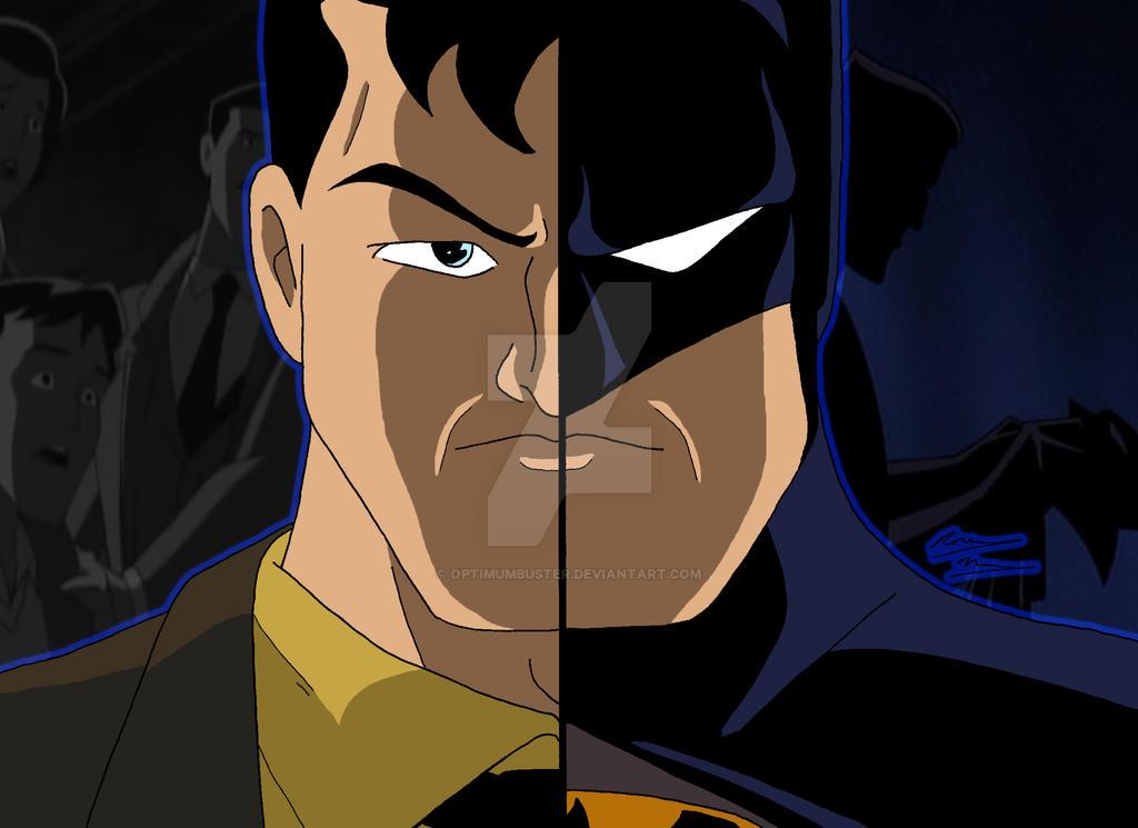 DCAU Duality - Bruce Wayne/Batman by OptimumBuster