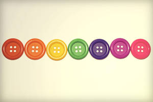 Rainbow Buttons by Cute-And-Bright