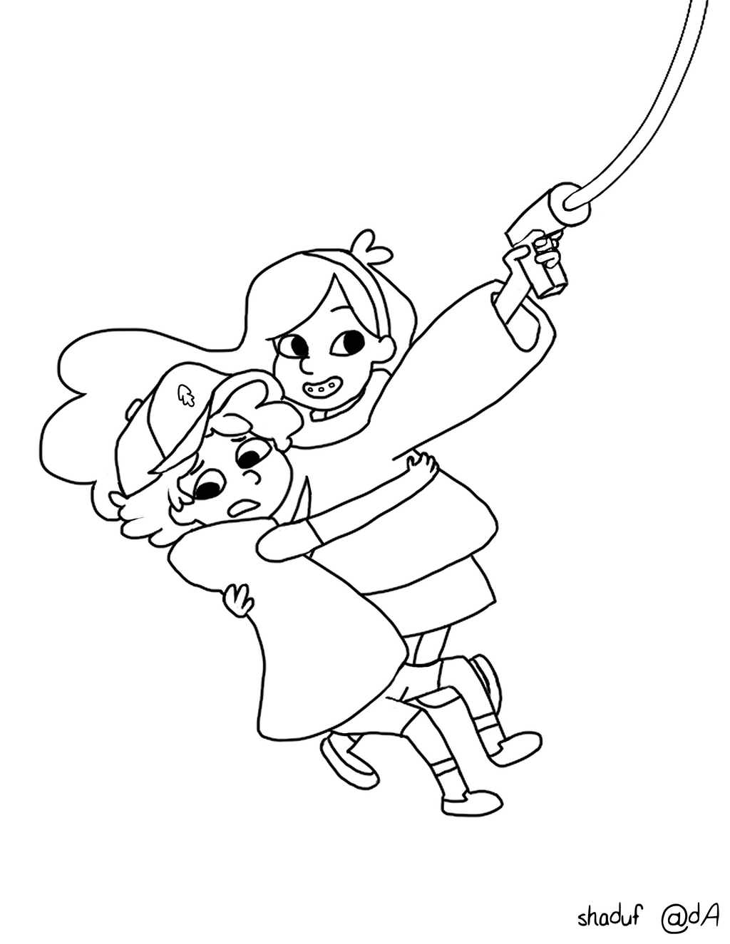 Gravity Falls Coloring Pages Within Printable