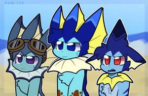Vaporeon Trio