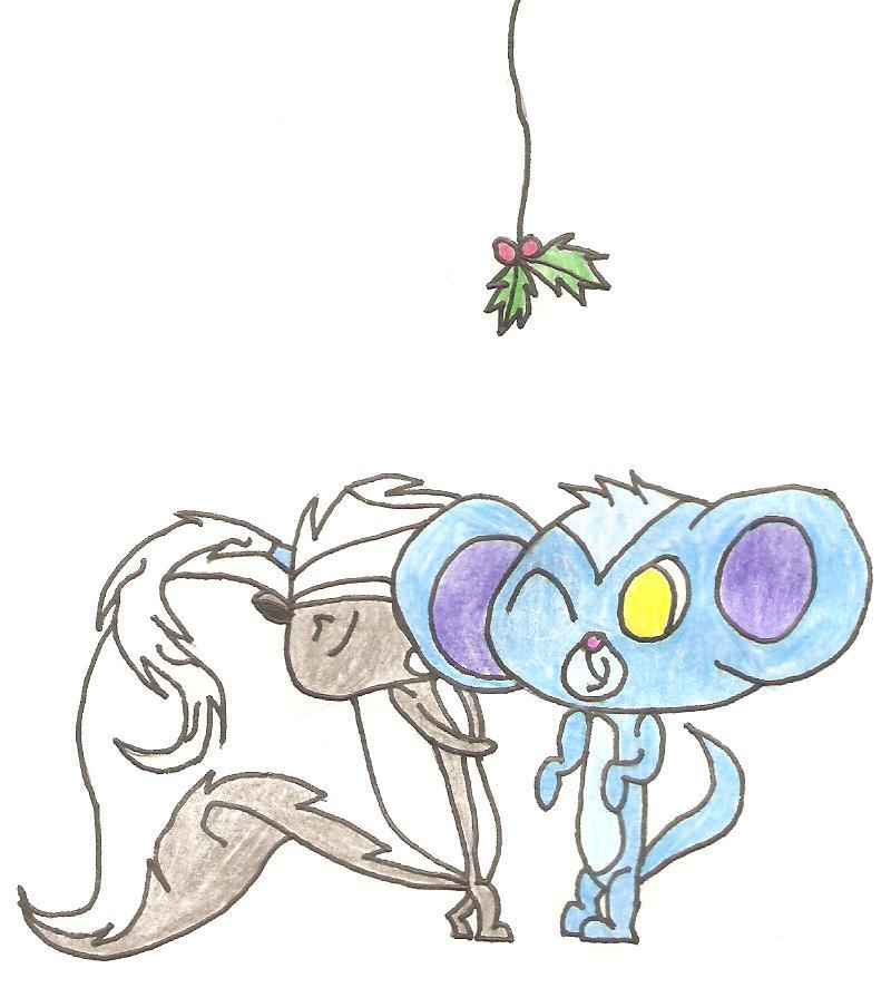Kiss under the mistletoe by 5raptor5