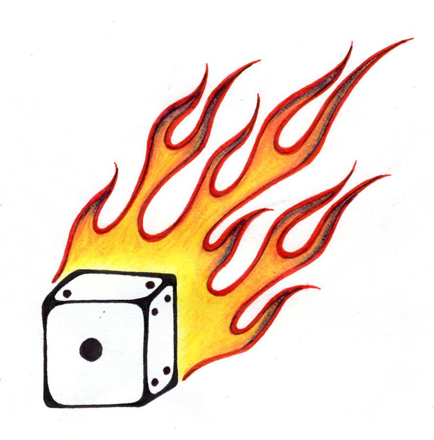 Flaming dice drawings flaming dice by killer
