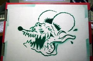 Rat Fink Stencil by killer-vanzombie