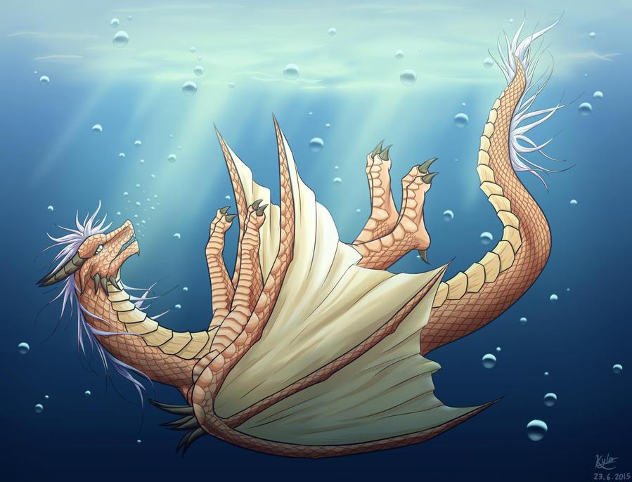 The fallen dragon by xiaomil