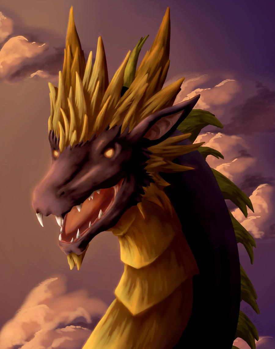 Dragon On Sunset Sky Wallpaper Computer – Background ... |Dragons And Sunsets