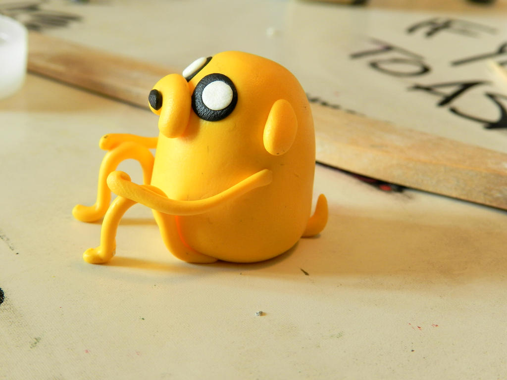 Jake the Dog - Adventure Time (Fimo) by NekoIsy