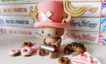 Chopper loves sweets! (Fimo)