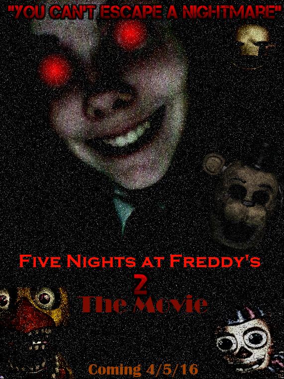 Five nights at freddy s 2 movie poster by freddythefazbear on