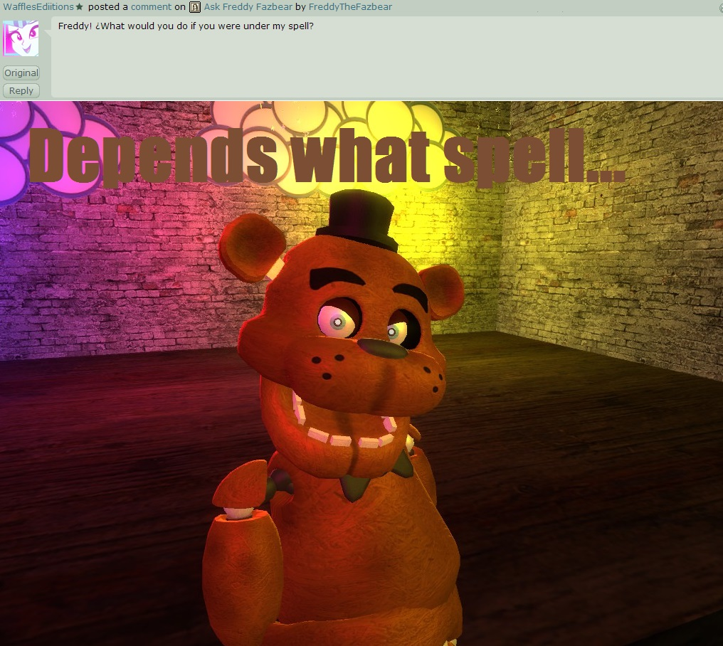 Ask freddy fazbear 7 by freddythefazbear on deviantart