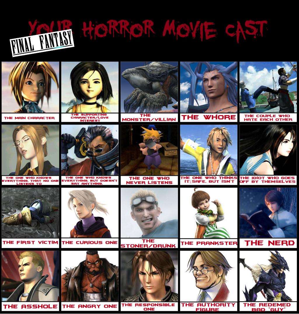 Final Fantasy Horror Movie Cast Meme By Shizonek On Deviantart