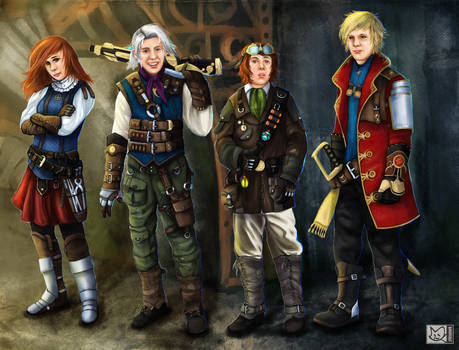 Final Fantasy 3 steampunk/victorian style