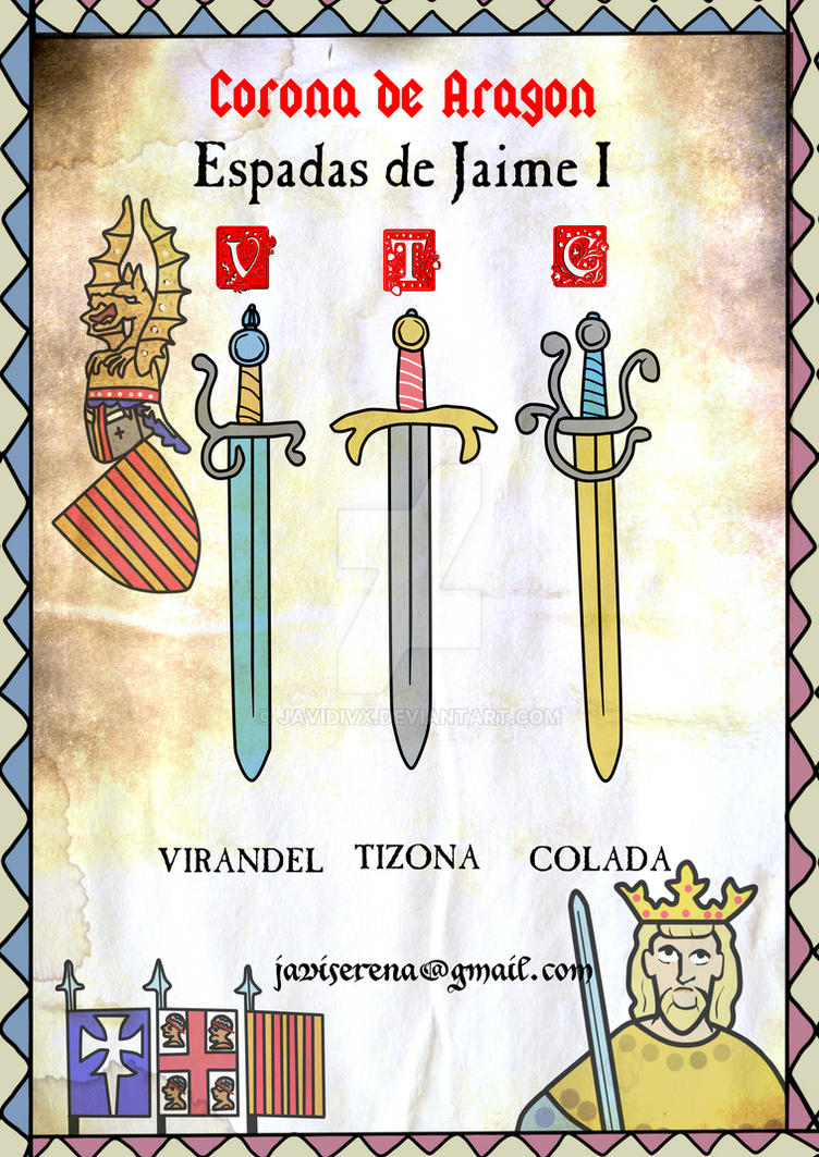 las espadas de jaime primero by javidivx