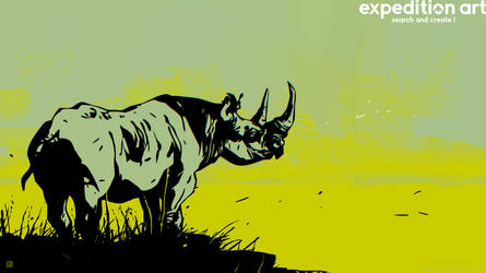 ExpeditionArt Barontieri Rhino01 by barontieri