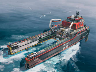 Hoverbarge loader