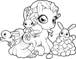 Easter Pony by Chibivi-Linearts