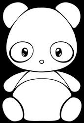 Panda Chibi - free lineart + adopt base by Chibivi-Linearts