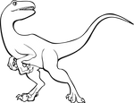 Raptor Dinosaur - Free Lineart + Adopt Base