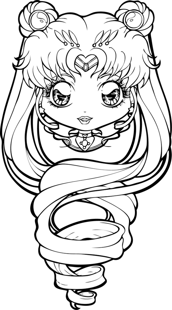 Line Art Moon : Sailor moon lineart by chibivi linearts on deviantart