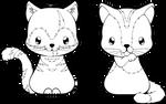 Mocha and Latte - Cat Commission