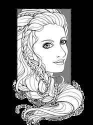 Ysindra Portrait - Lines