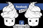 Facebook Cupcake linearts
