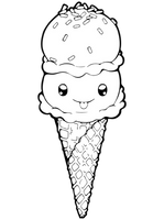 Dessertie   Ice Cream Lineart by Chibivi-Linearts