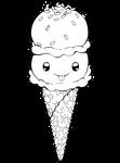 Dessertie   Ice Cream Lineart