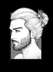 Ivan Portrait - Lines