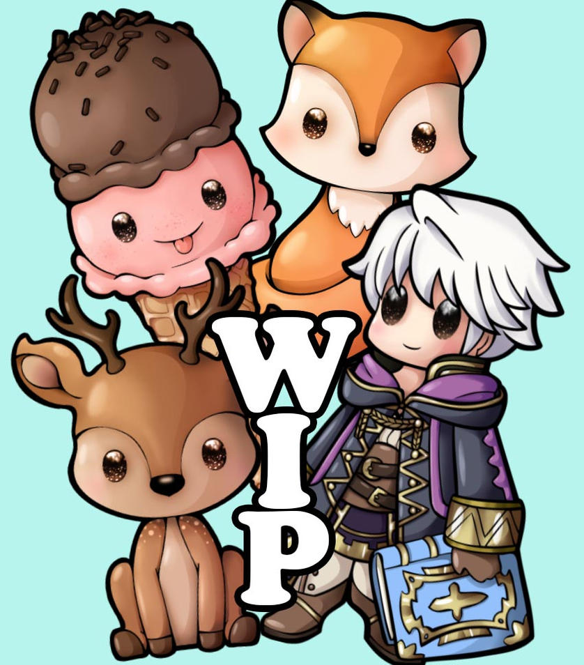 WIP Chibi-Charms by Chibivi-Linearts