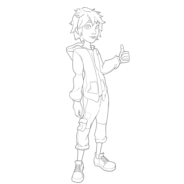 big hero 6 coloring pages hiro - photo #6