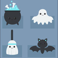 Halloween Set by adepressedcake