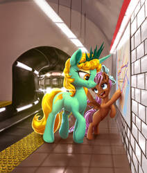The Train to Ponycon by NadnerbD