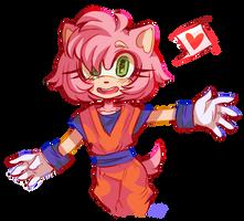 Amy in Goku's clothes! by pontiikii