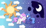 Luna and Celestia wallpaper