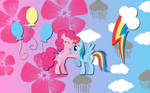 Rainbow Pie wallpaper