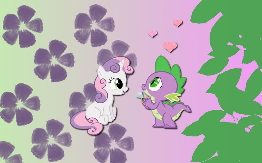 Sweetie Spike wallpaper by AliceHumanSacrifice0
